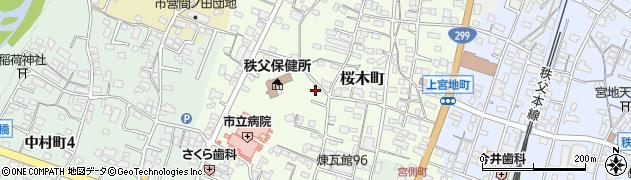 埼玉県秩父市桜木町周辺の地図