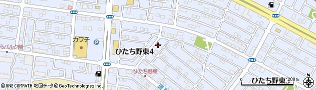 茨城県牛久市ひたち野東4丁目周辺の地図