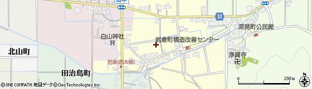 福井県福井市岩倉町周辺の地図