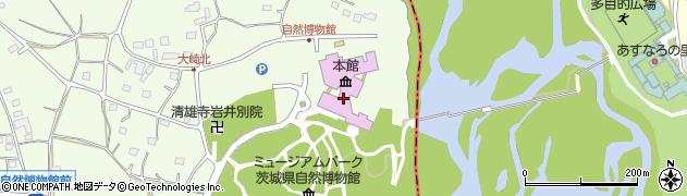 茨城県自然博物館周辺の地図