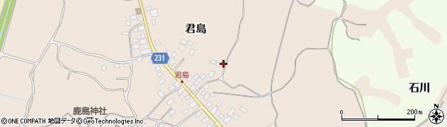 茨城県阿見町(稲敷郡)君島周辺の地図