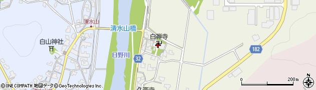 白禅寺周辺の地図