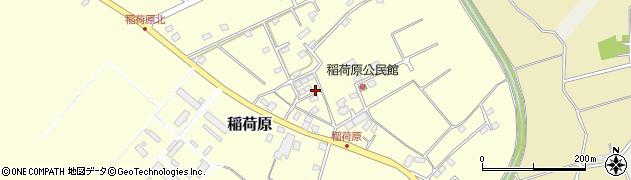 茨城県つくば市稲荷原周辺の地図