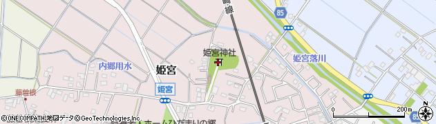 姫宮神社周辺の地図