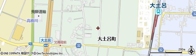 福井県福井市大土呂町周辺の地図