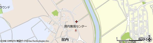 茨城県つくば市房内周辺の地図
