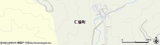 福井県福井市仁位町周辺の地図