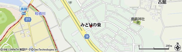 茨城県つくば市みどりの東周辺の地図