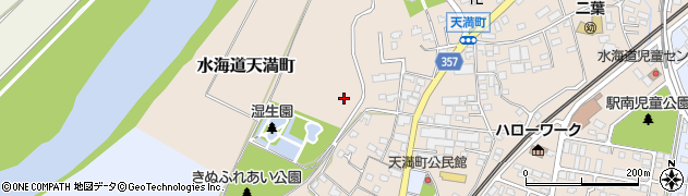 茨城県常総市水海道天満町周辺の地図