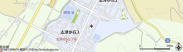 福井県福井市志津が丘周辺の地図