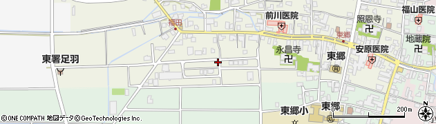 福井県福井市東郷二ケ町周辺の地図