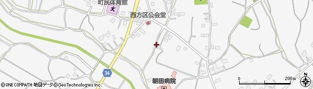 茨城県阿見町(稲敷郡)若栗周辺の地図