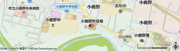 埼玉県秩父郡小鹿野町周辺の地図