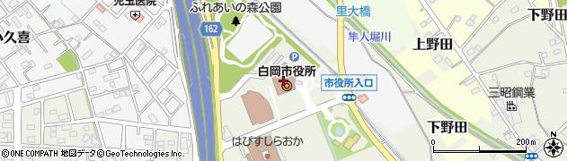 埼玉県白岡市周辺の地図