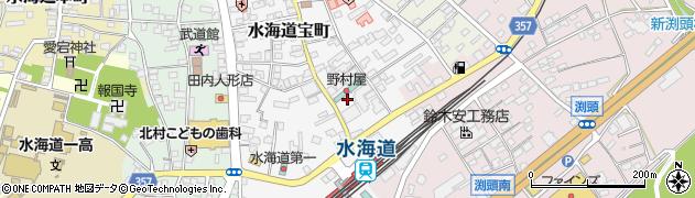 茨城県常総市水海道宝町周辺の地図