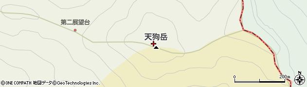 天狗岳周辺の地図