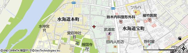 茨城県常総市水海道栄町周辺の地図