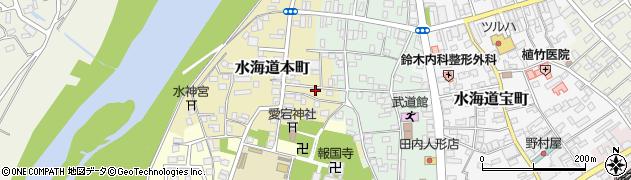 茨城県常総市水海道本町2626周辺の地図