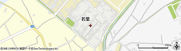 茨城県つくば市若葉周辺の地図