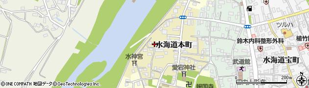 茨城県常総市水海道本町2587周辺の地図