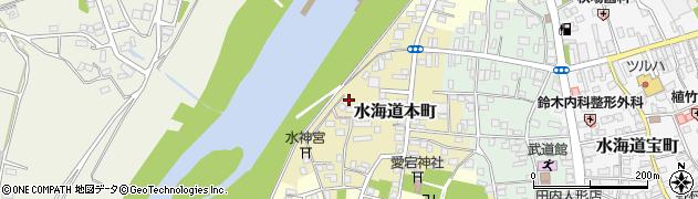 茨城県常総市水海道本町周辺の地図