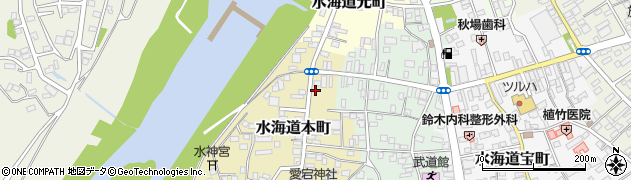 茨城県常総市水海道本町2612周辺の地図