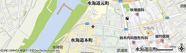 茨城県常総市水海道本町2614周辺の地図