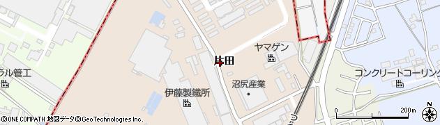 茨城県つくば市片田周辺の地図
