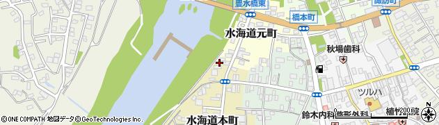 茨城県常総市水海道本町3447周辺の地図