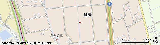 埼玉県春日部市倉常周辺の地図