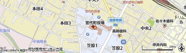 埼玉県南埼玉郡宮代町周辺の地図