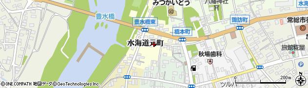 茨城県常総市水海道元町周辺の地図