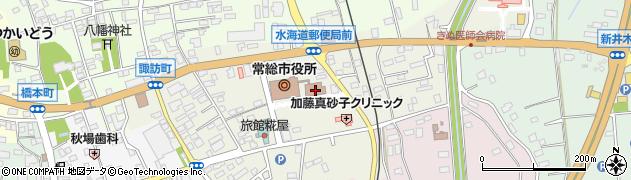 茨城県常総市周辺の地図