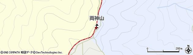 両神山周辺の地図