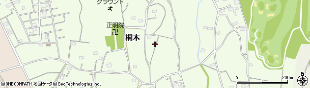 茨城県坂東市桐木周辺の地図