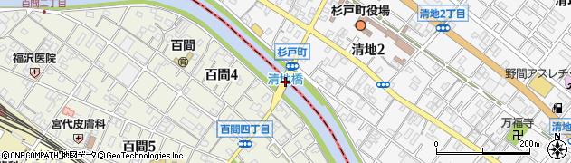 清地橋周辺の地図