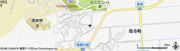 福井県福井市島寺町周辺の地図