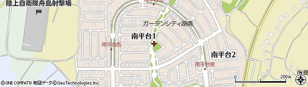 茨城県阿見町(稲敷郡)南平台周辺の地図