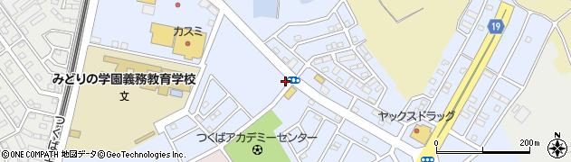 茨城県つくば市みどりの中央周辺の地図
