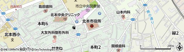 埼玉県北本市周辺の地図