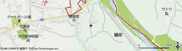 埼玉県比企郡嵐山町根岸周辺の地図