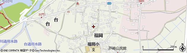 茨城県つくばみらい市福岡周辺の地図