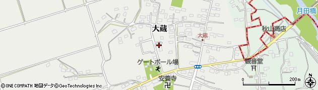 埼玉県比企郡嵐山町大蔵周辺の地図