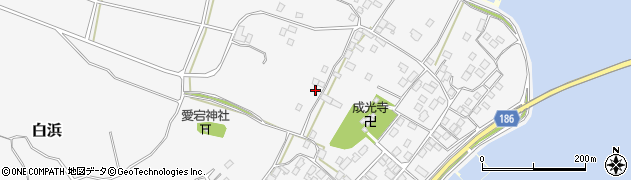 茨城県行方市白浜周辺の地図
