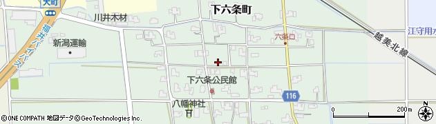 福井県福井市下六条町周辺の地図