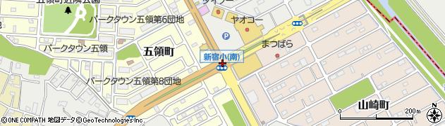 新宿小南周辺の地図