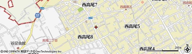 埼玉県北本市西高尾8丁目 住所一覧から地図を検索