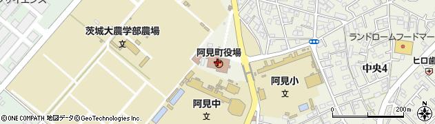 茨城県阿見町(稲敷郡)周辺の地図