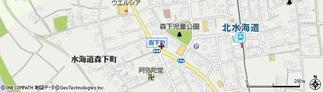 茨城県常総市水海道森下町周辺の地図
