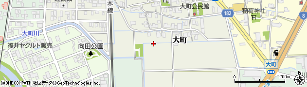 福井県福井市大町周辺の地図